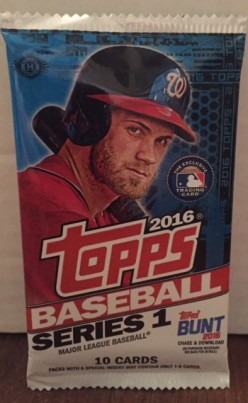 2016 Topps Series 1 Baseball: Information and Pack Break