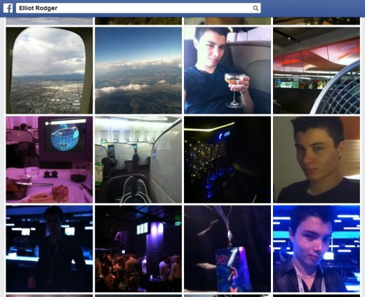 A glance at Elliot Rodger's Facebook, where he displays just what kind of life he was used to.