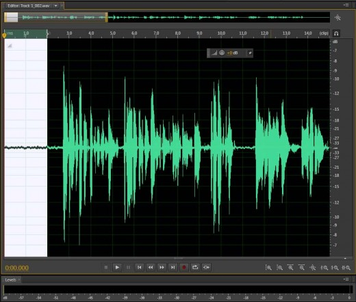 Remove background noise: select a section of your recording (usually from the beginning) where only background noise is recorded.