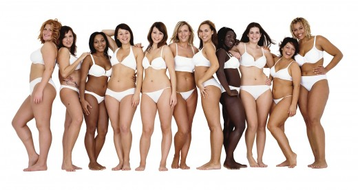 Women pose for an ad run by the Dove Beauty Campaign, one of the first commercial entities to promote body positivity. The campaign had its share of both successes and failures.