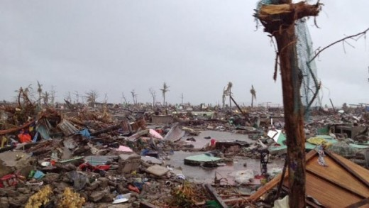 Tacloban City devastation after Haiyan in 2013.