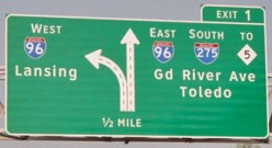Highway Signs: All That Traffic Allows