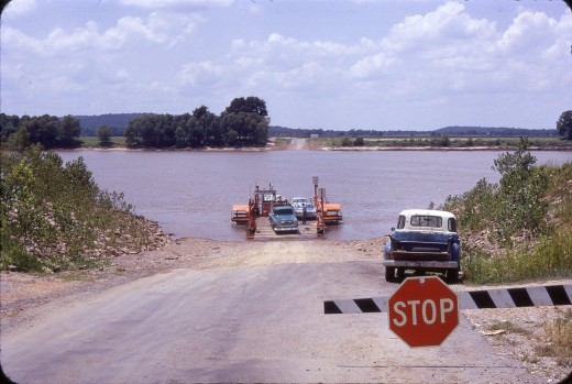 Toad Suck Ferry before the bridge was built c. 1969.
