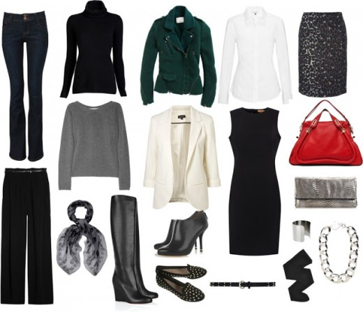 The photo shows a variety pieces to put together for your job interview.