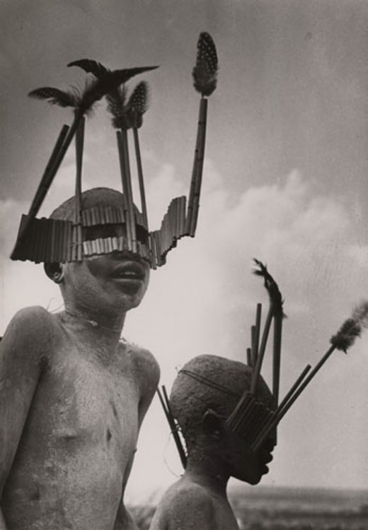 Children from the Wagogo Tribe  in Tanzania Wear Special Headgear for the Circumcision Ceremony.