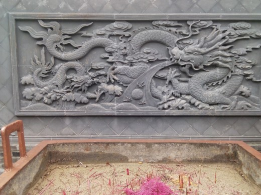 Beautiful stone carving, Dapeng Ancient Fortress