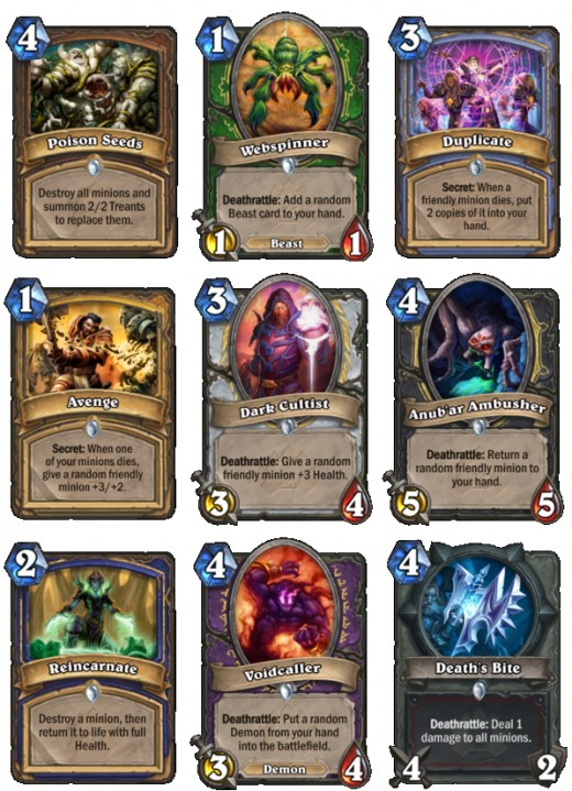 Class specific Curse of Naxxramas cards