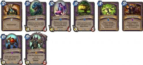 Warlock class specific cards