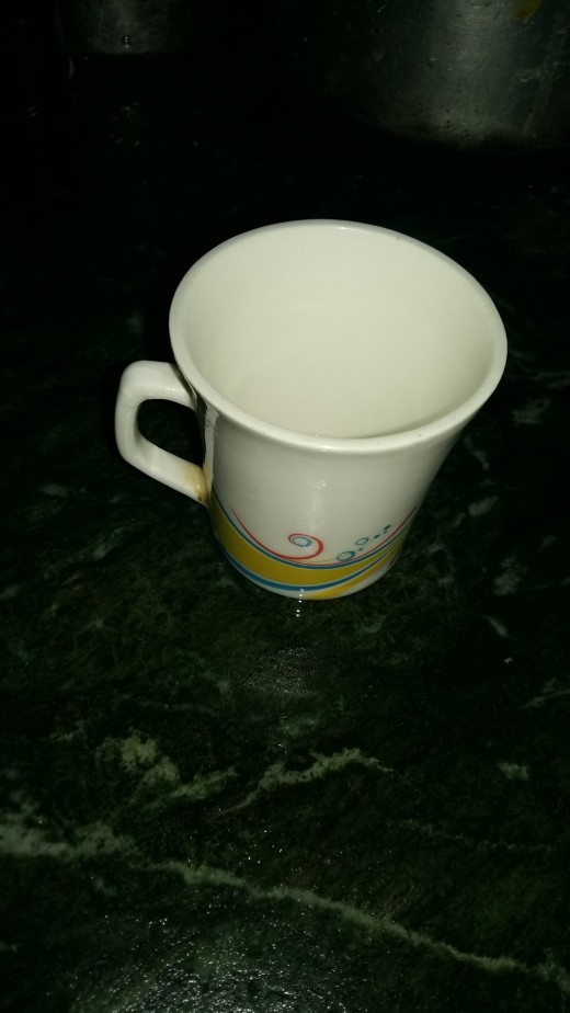 Take a small cup as shown above.