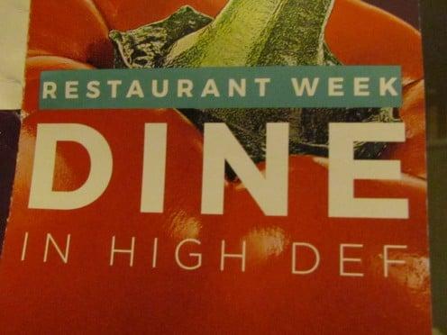 A flyer for Restaurant Week in Hi Def.