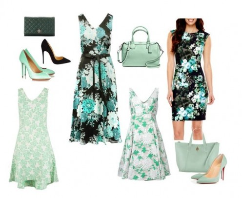 Mix Of Floral Dresses  with accessories