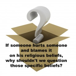 Is it bullying to believe people when they claim their actions come from their religious beliefs?