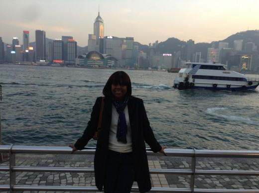 Me at Victoria Harbour, Hong Kong