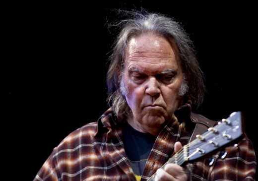 Neil Young in concert in Oslo, Norway in 2009.