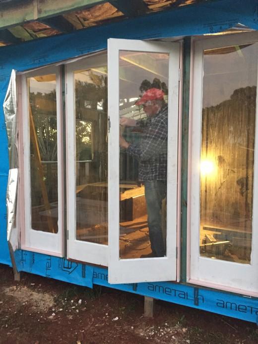 Beautiful Re-purposed Cedar Doors