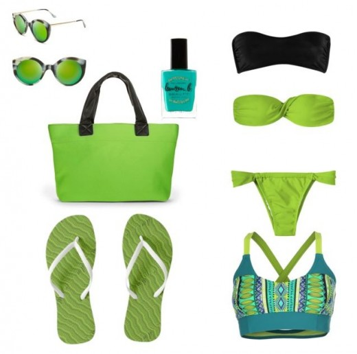 Lime Green And Other Colour Beach Collection / for a twist of lime and bright chic accessories.