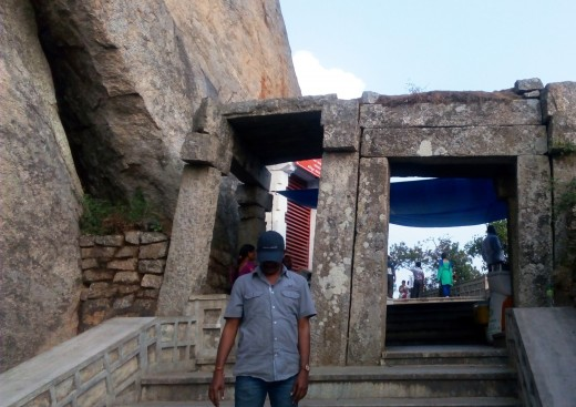 Way to the Yoganarasimha Temple - up the Stairs - Devanarayanadurga