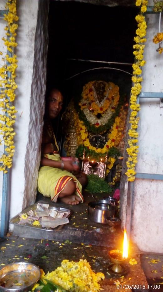 Shrine to Goddess Lakshmi Outside Yoganarasimha Temple