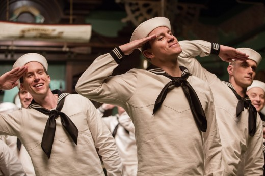 "Channing Tatum putting his ""Step Up"" and professional dance training to excellent use in an incredible Gene Kelly/Fred Estaire style sequence featuring backup dancers as sailors."