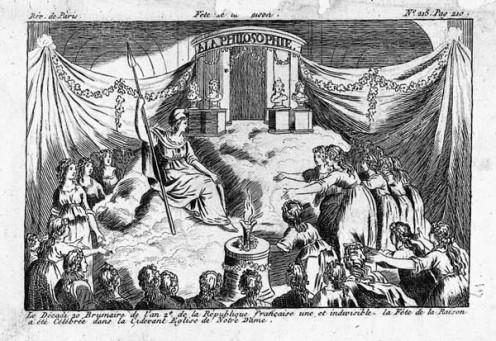 The Festival of Reason, France, 1793