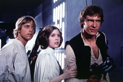 3 Star Wars costume ideas are Leia, Han Solo, and Luke Skywalker