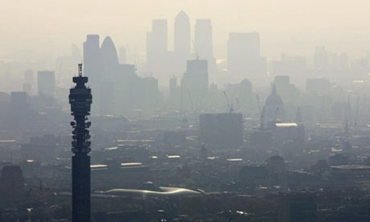 "London ranks as one of Europe's unhealthiest major cities, having done little to tackle deadly particles from diesel vehicles. London was ranked low because of the ""backward steps"" ."