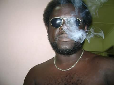 This was back when I still smoked weed, and had hair! LOL!