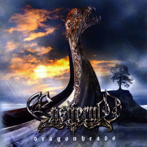 The album cover for Dragonheads shows the kind of ship that the Vikings would have have used to cross oceans back in their time.