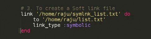 Figure 3.3: Code for symbolic link file creation