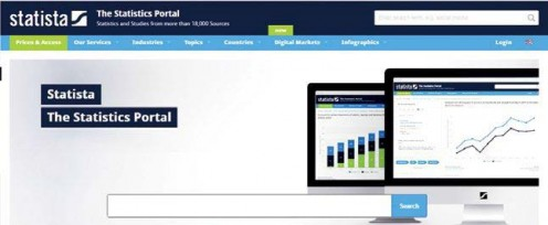 Statista as a prominent and key portal for statistical data