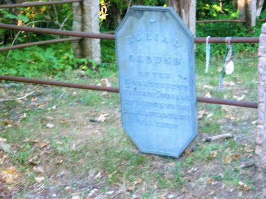 This slab of slate is the lone identifier of the place of interment. Photo-copyright Bill Russo