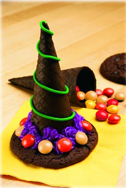 The cookie witch hat recipe is always a big hit on Halloween.