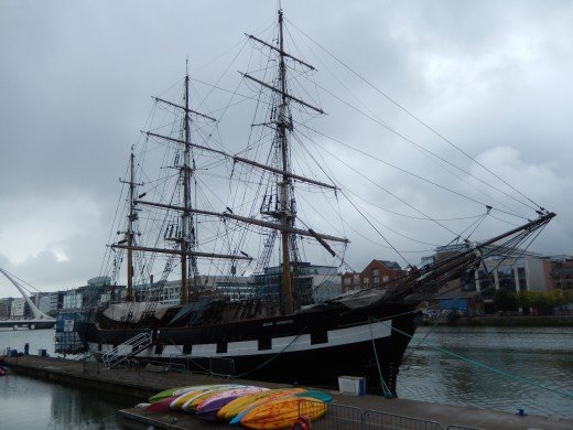 The Jeanie Johnston at her home port in Dublin, August 2015