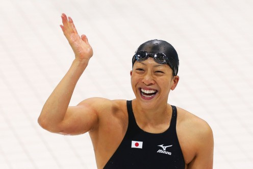 Aya Terakawa is happy after winning the bronze medal in London in 2012.