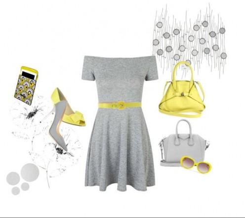 Mix n match dull grey and bright yellow for a striking contrast to your wardrobe