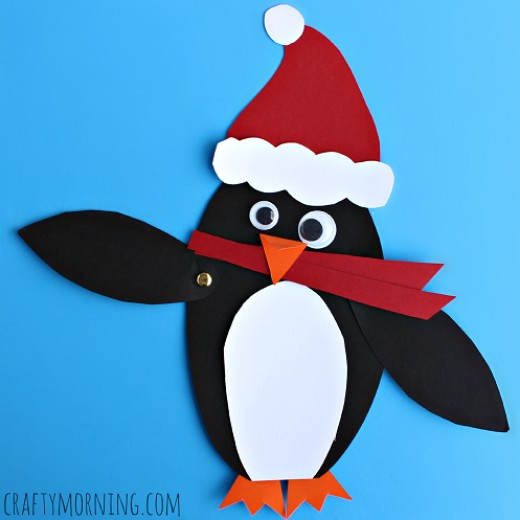 This cute craft project is made with cardstock or construction paper
