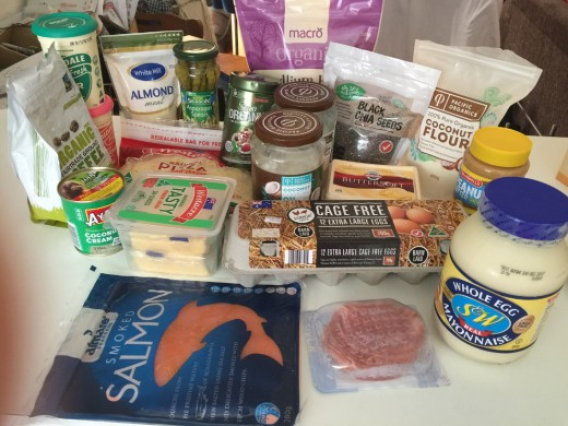 An enlarged view of some of my Ketogenic diet staple foods.