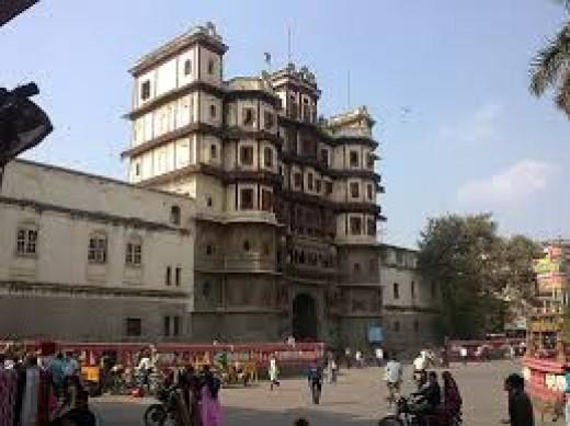 Indore's famous Rajwada in Madhya Pradesh, India