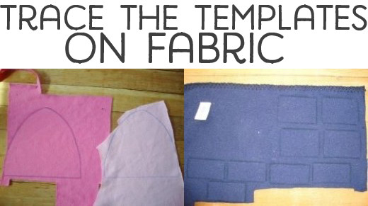 Trace your templates onto your fabric.