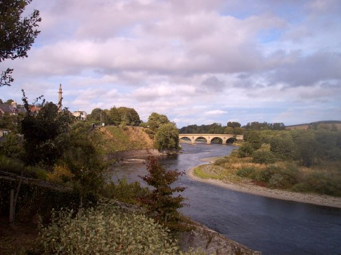 Coldstream Bridge from the north bank of the Tweed