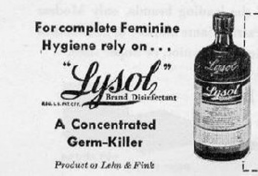 "These ads aren't frightening women into thinking their genitals smell badly.  According to historian Andrea Tone, ""feminine hygiene"" was a euphemism.   Birth control was illegal in the U.S. until 1965. These were contraception ads."