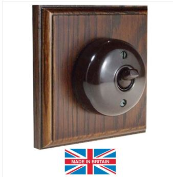 Bakelite makes safe, durable and attractive light switches, which you can have with a vintage or modern look, depending on design and finish.