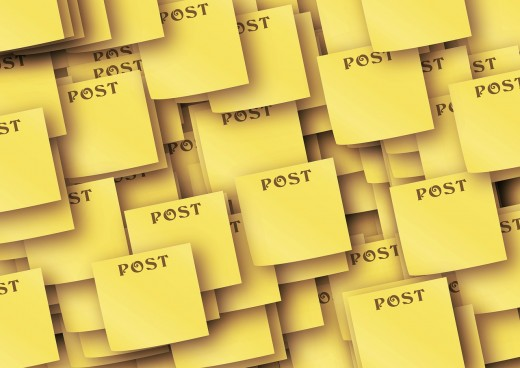A post under any other's name is still a post - even posts like these that do not say anything at all. (Image source: Pixabay.com)