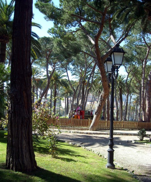 The gardens of the Municipality of Ventimiglia, created in 1906 by Ludovico Winter