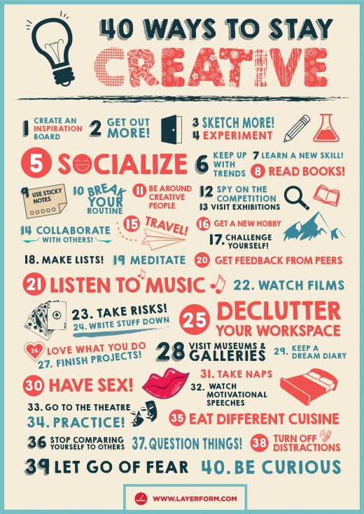 40 Ways to Stay Creative!