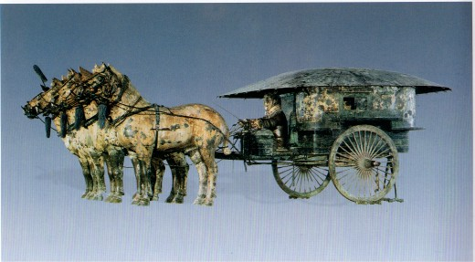 This chariot was probably for a commanding officer.