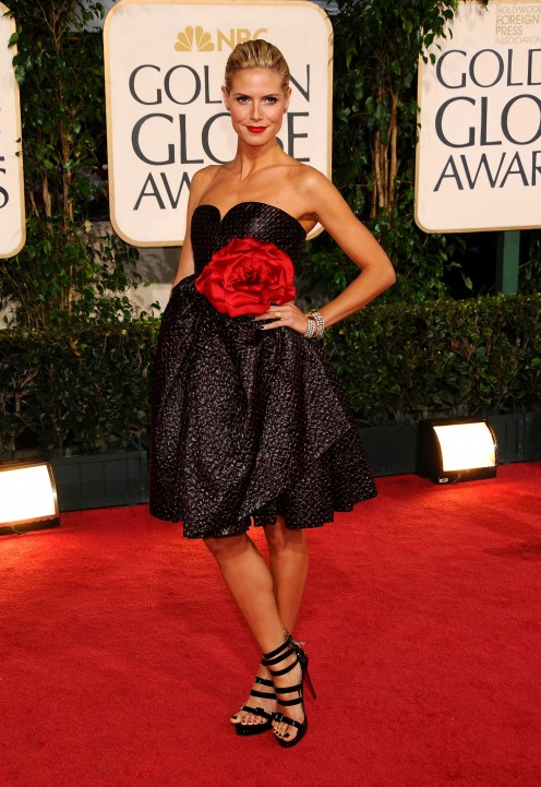 Heidi Klum at the 66th annual Golden Globe Awards in 2009.