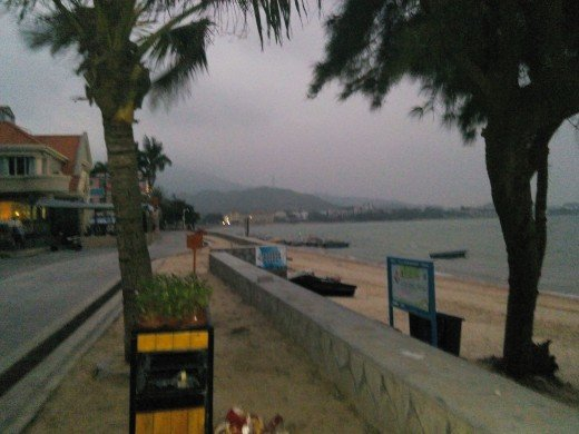 These photos of Xichong Beach were taken at 6am. I was hoping to catch the sunrise, however it was a mild but very cloudy winter's day so I settled for a long, peaceful walk instead.