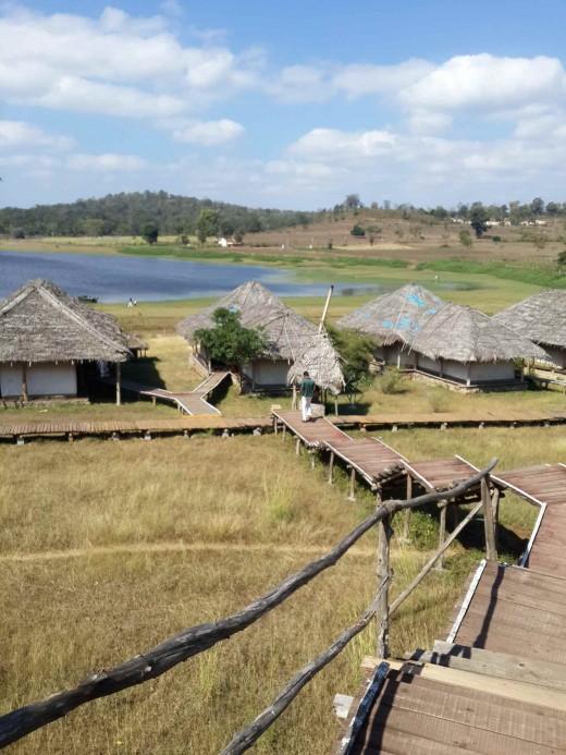 Bison Resort - Kabini View of Rustic Deluxe Tents