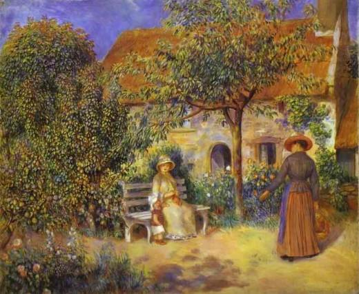 Garden Scene in Britanny